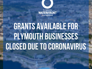 Grants available for Plymouth businesses closed due to coronavirus