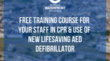 FREE Training Course for your staff in CPR & use of new lifesaving AED defibrillator
