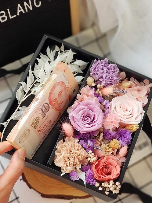 Preserved Money Flower Box - Purple