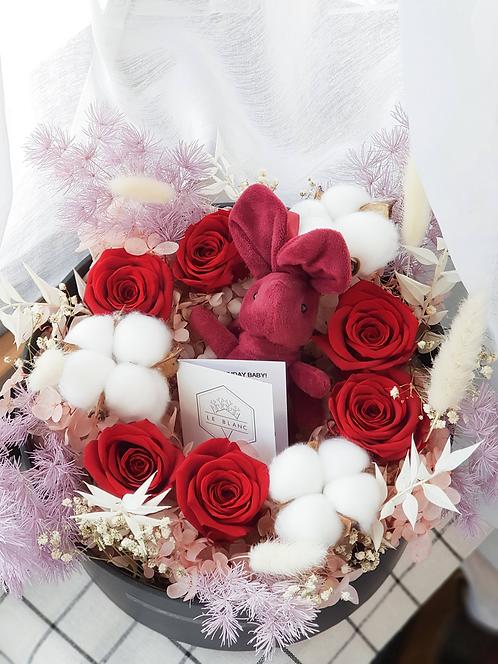 Everlasting Love Bloom Box - Red