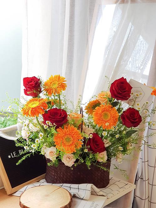 Bright Future Flower Basket