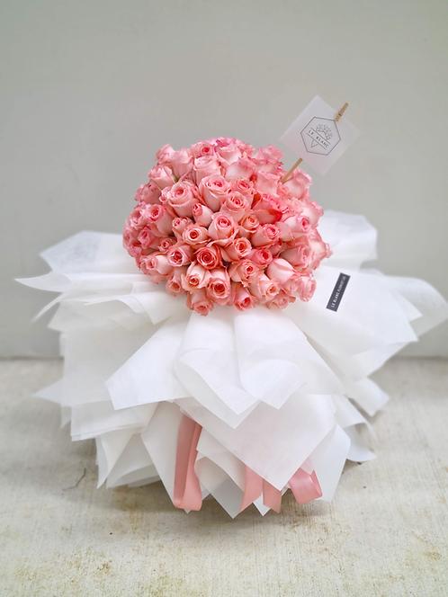 An Avowal of Love (99 Pink Roses)