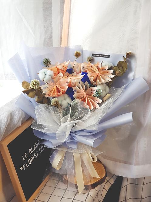 Blue Money Flower Bouquet