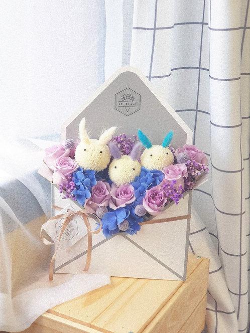 Purple Bunnies Envelope