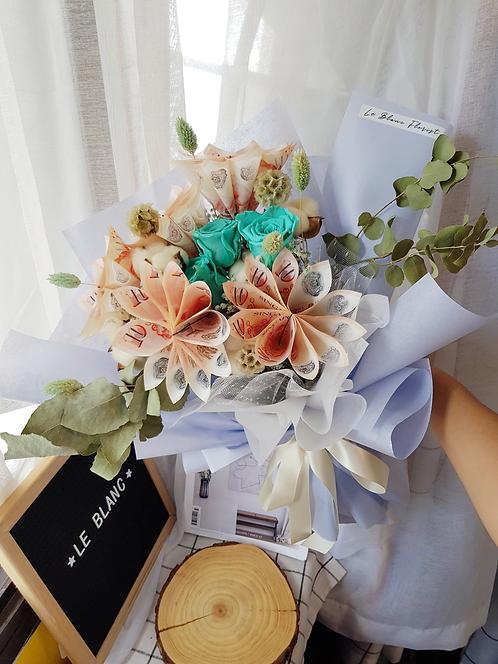 Tiffany Money Flower Bouquet