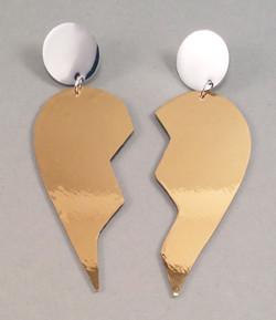 Golheart earrings