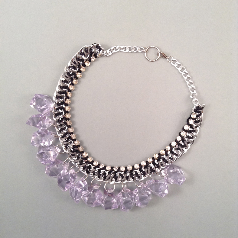 Mauve Ice necklace