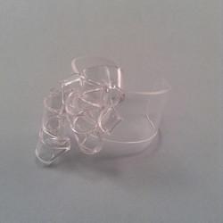 Transparent hoop bracelet