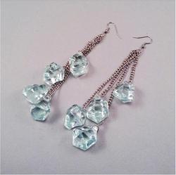 Green ice earrings