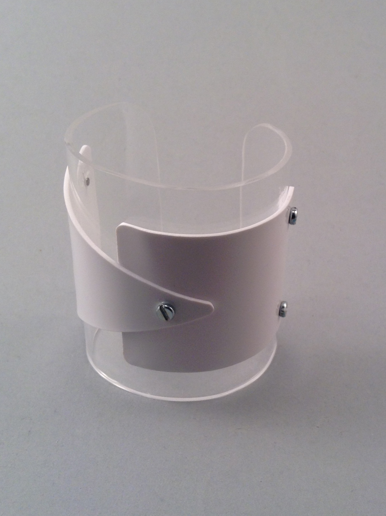 White Trisquare bracelet