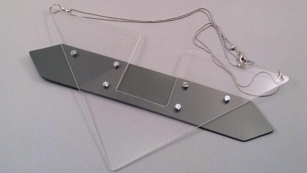 Bigtri grey necklace