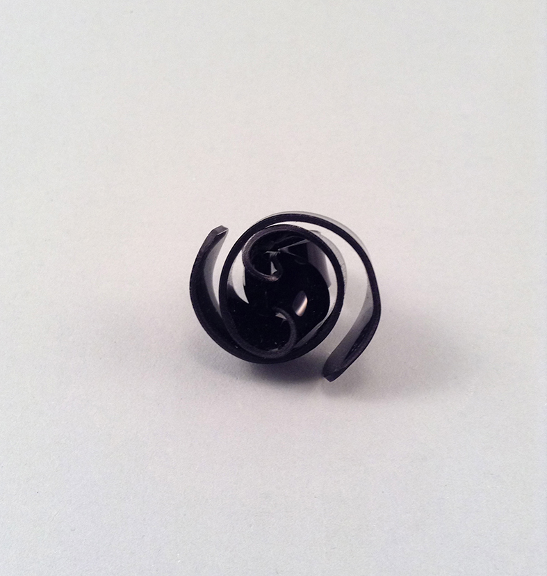 Snail black ring