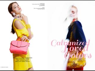 "Editorial ""Galvanized Loved Colors"" Fashion shift Magazine (U.K)"