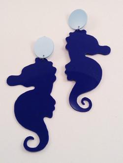 navyhorsea earrings
