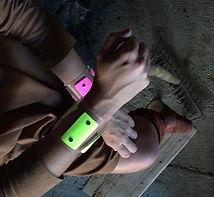bracelets pulseras metacrilato plástico madera