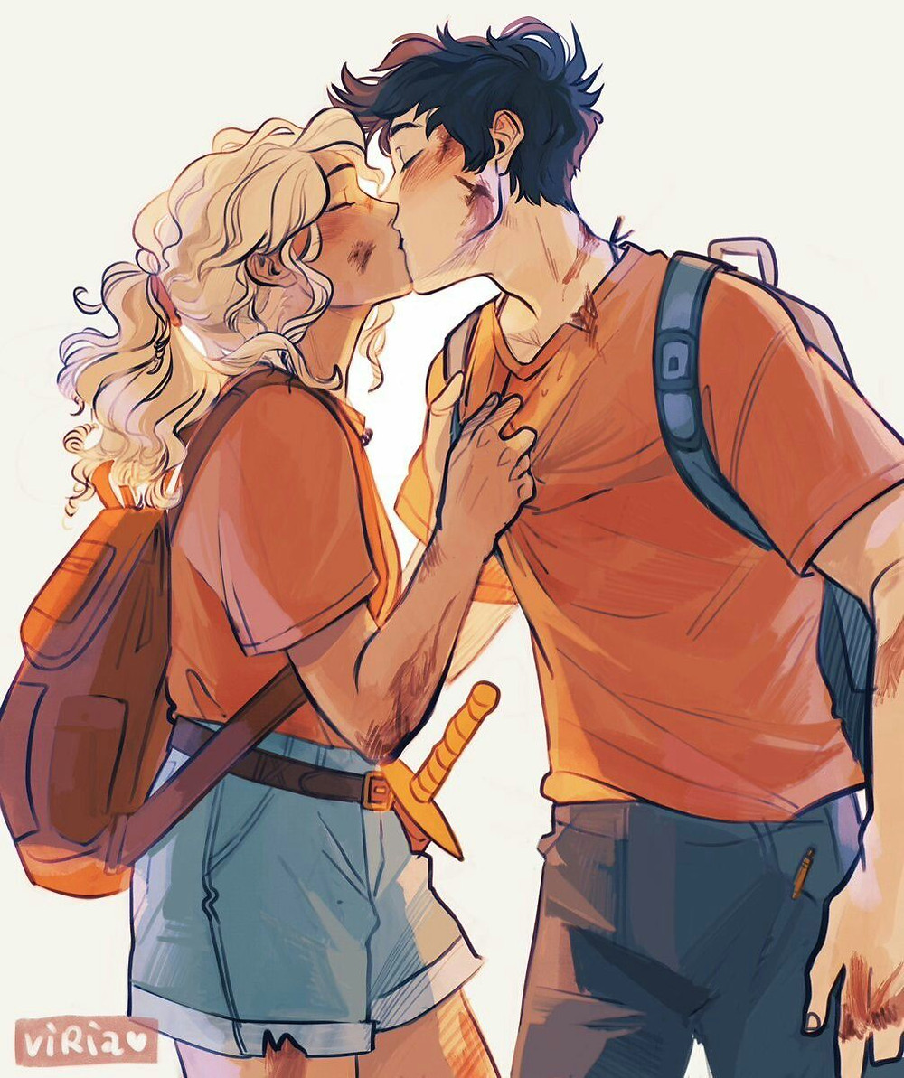 Viktoria Ridzel Percabeth Coffee, Book, and Candle OPTs
