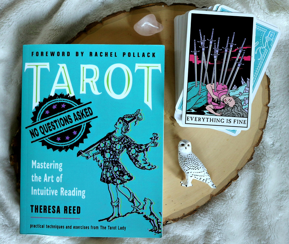 Tarot No Questions Asked book review Coffee, Book, and Candle