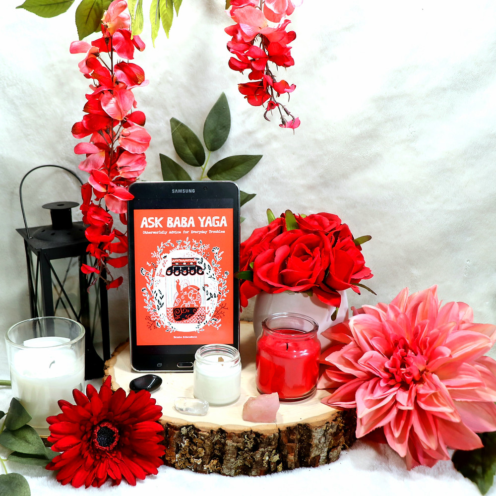 Ask Baba Yaga Book Review Coffee, Book, and Candle