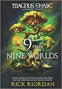 9 from the Nine Worlds by Rick Riordan book review by book blog Coffee, Book, & Candle in honor of the Norsevember reading challenge.