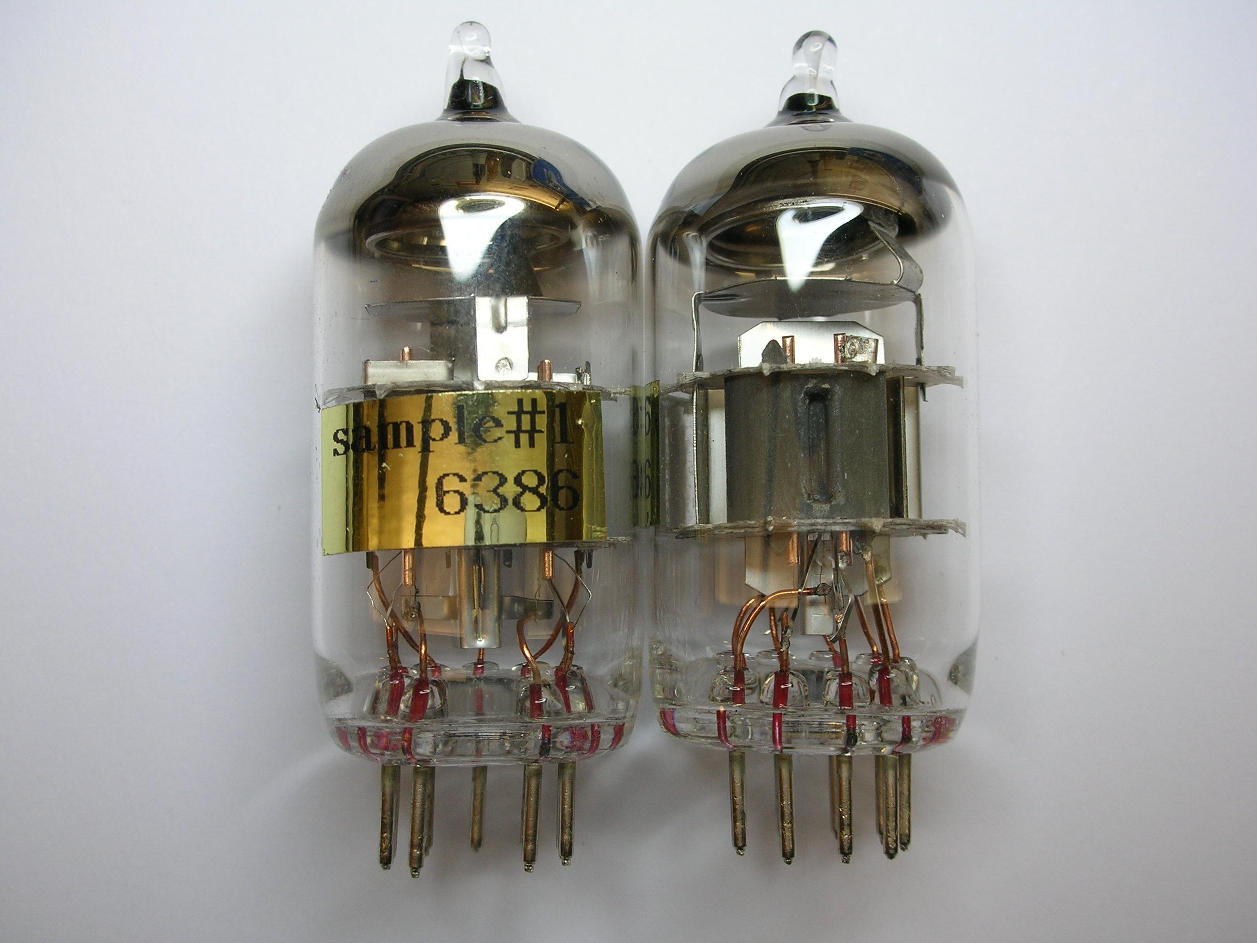 First 6386 development tubes