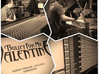 Bullet For My Valentine tracking drums with AT-101 Stereo Compressor/Limiter