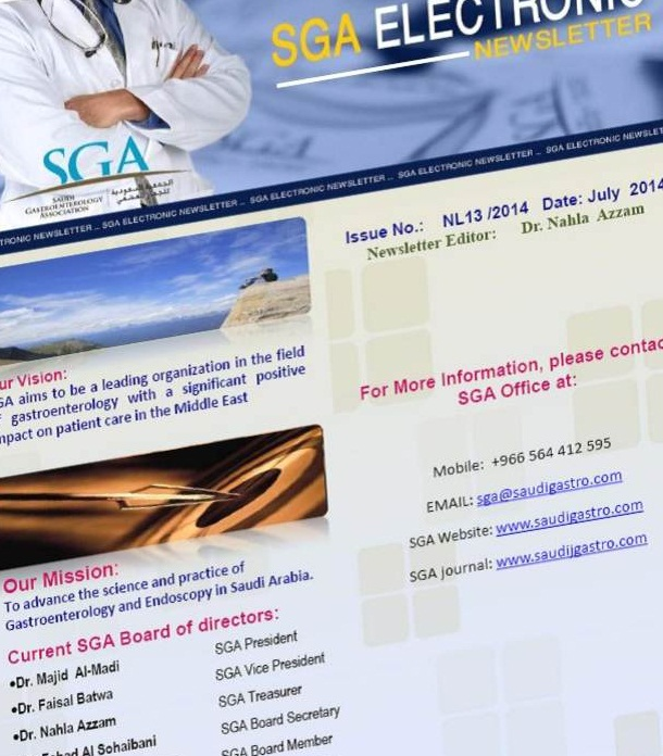 SGA Electronic Newsletter