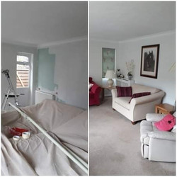 Just completed this living room re paint