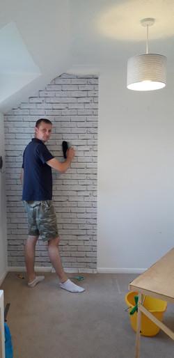 Wallpaper  and paint bury st Edmund pain