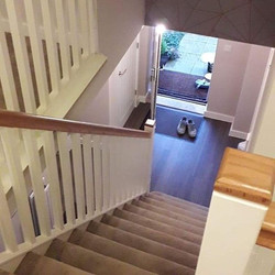 Hall stairs and landing painted in #john