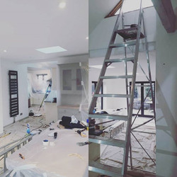 Large kitchen re paint in progress this