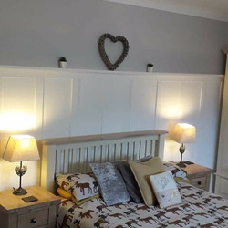 Completed wall panelling and bedroom redecoration