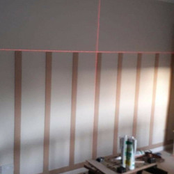Wall panelling in progress
