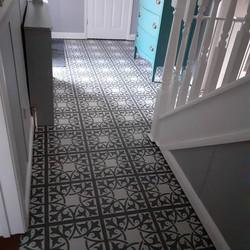 Harvey Maria completed hall way floor