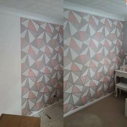 Geometric feature wall _Bedroom walls in