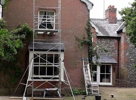 Sash window restoration