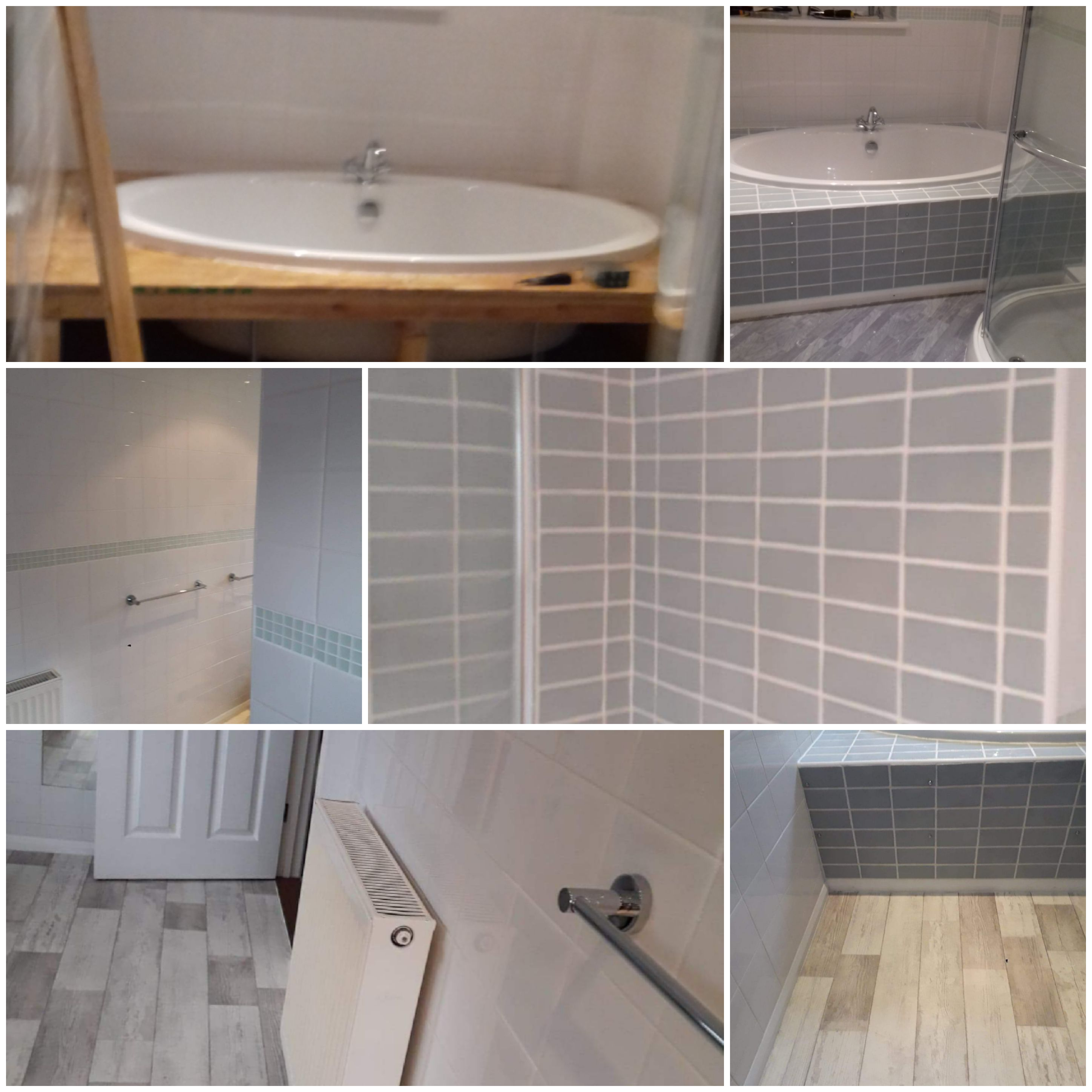 Bathroom re tiled and internal doors fit