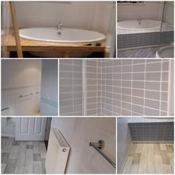 Bathroom re tiled and internal doors fit