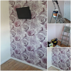 Vibrant feature wall