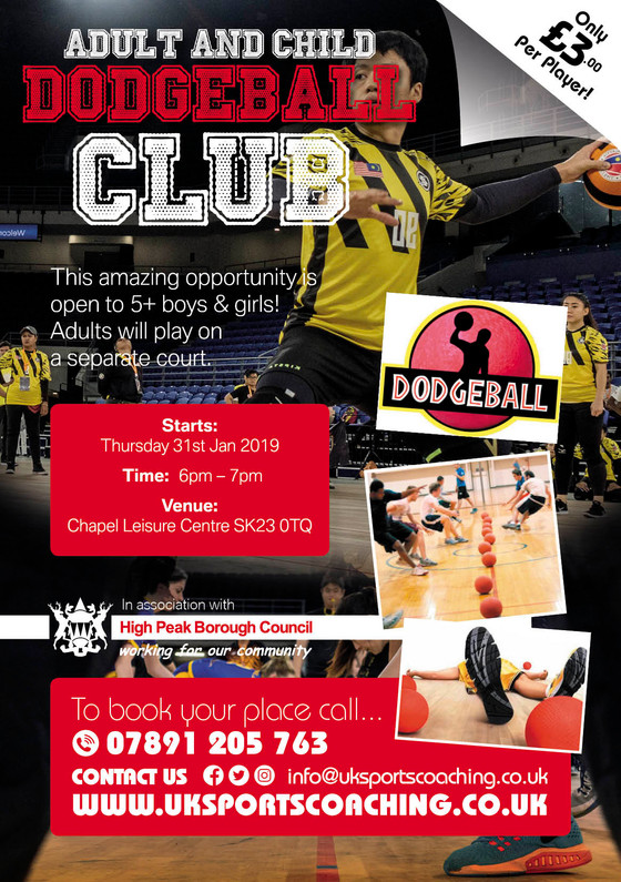Adult and child dodgeball classes