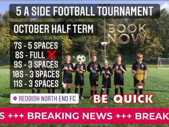 5 A SIDE FOOTBALL TOURNAMENT