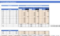 Fourth Worksheet of Tool - Formulations