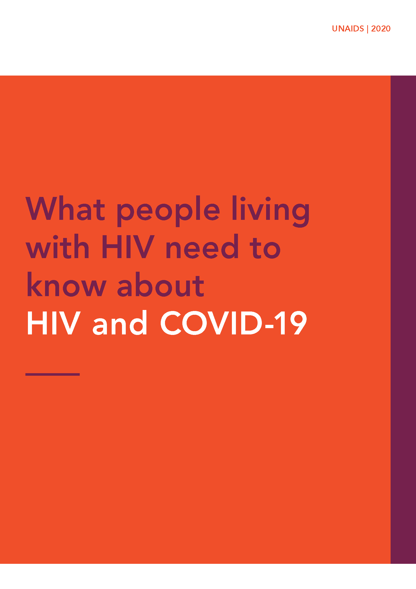 COVID-19 UNAIDS PLHIV Guidance_Brochure_