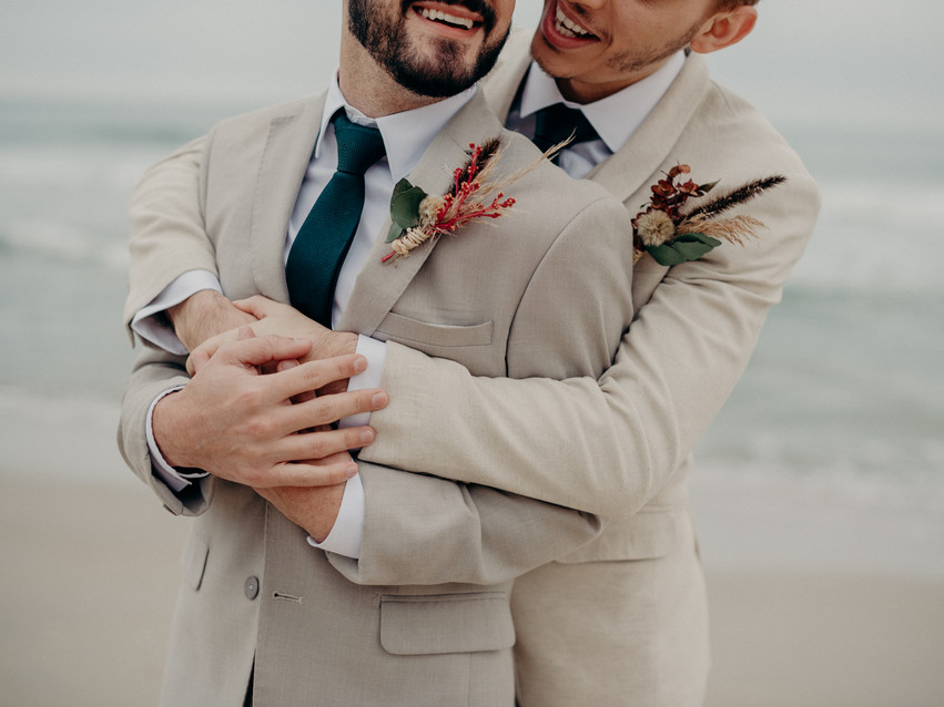 Elopement Wedding na Praia Vinicius + Victor - {Juqy Beach House - Juquehy/SP}