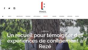 Le magazine FRAGIL parle de Confidences de confinement !