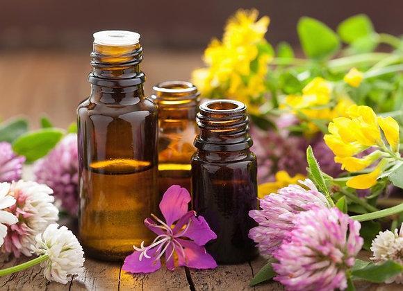 Voyance + flacon de fleurs d'élixirs de plantes personnalisé
