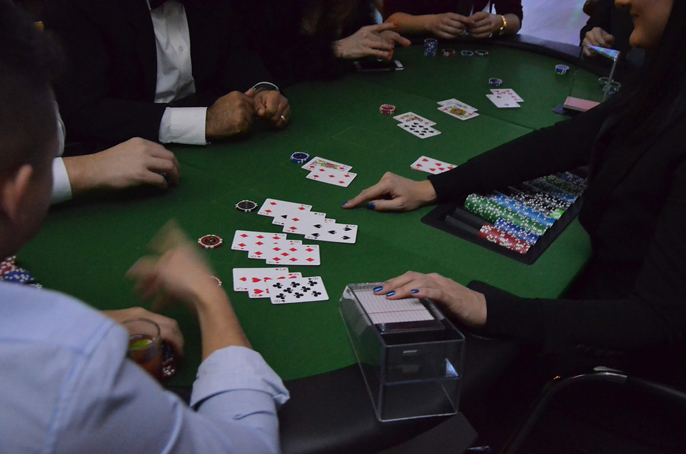 This is a black jack table as part of our casino style event