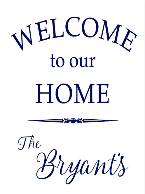 Welcome to our Home 3