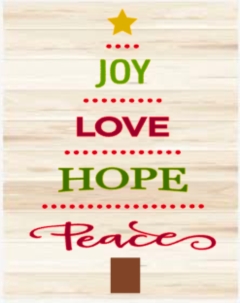 Joy, Love, Hope and Peace