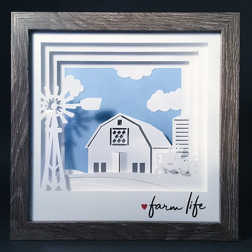 Life on the Farm Shadowbox