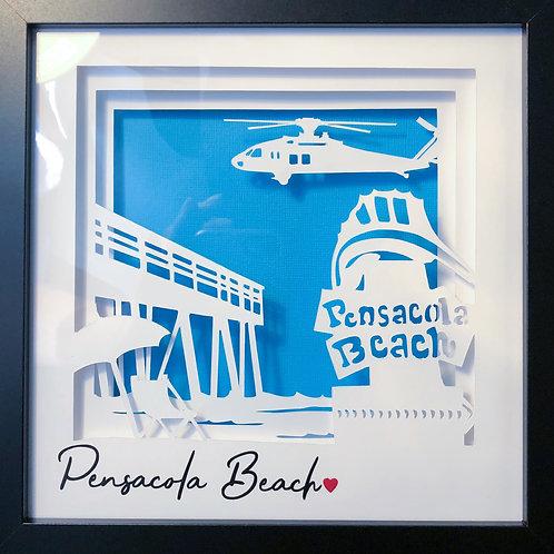 Pensacola Beach Shadowbox